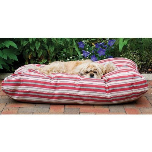 Cpc Jamison Indoor/Outdoor Striped Bed for Pets, 27-Inch, Red
