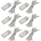 6 Pack of 20CT 10ft/3m 30 LEDs Mini Bulb Battery Operated Light, Corridor, Patio, Garden, Yard, Photo Frame, Super Bright Starry Light for Special Events Wedding Party Bedroom Home Crafts (6 Pack)