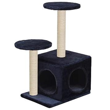 vidaXL Rascador para Gatos y Poste Rascador Sisal 60cm Azul Oscuro Mascotas