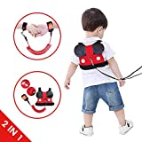 Lehoo Castle Toddler Leash for Walking, Toddler Safety Harnesses Leashes, Safety Harness with Lock for Kids, Anti Lost Wrist Link Safety Wrist Link for Toddlers (Mic)