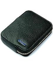 Ricco RFID Blocking Small Leather Card Holder Zipper Pocket Purse Billfold Wallet S10 Black