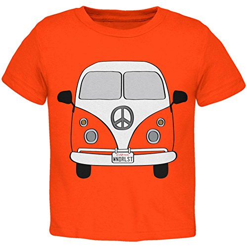 Halloween Travel Bus Costume Camper Wanderlust Toddler T Shirt Orange Toddler Size 5/6