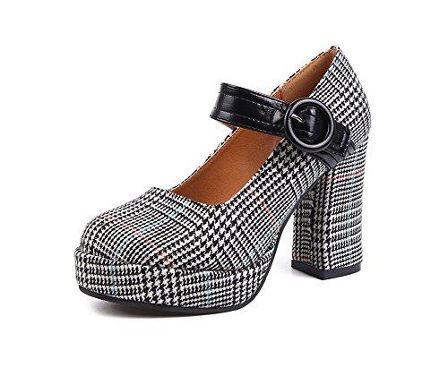 2018 de mode Noir été chaussures sexy noir brun chaussures sport travail de talons chaussures Color respirant Taille soirée haut Noir 9CM dames sandales élégant nouvelle de 37 AxrwgUqAO