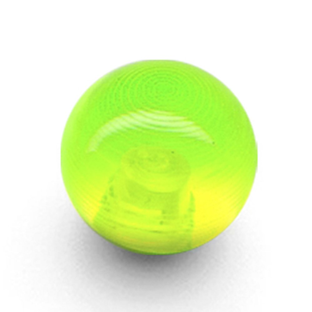Body Candy Lime Green UV Acrylic 6mm Replacement Ball 14 Gauge
