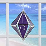Rainbow Dancer (Purple Crystal Rainbow Maker) Glass Prism Suncatcher