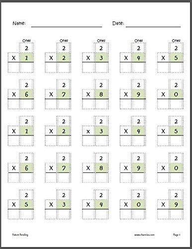 Channie's One Page A Day Single Digit (Beginner) Multiplication Practice Workbook for 2nd-3rd Grades Photo #7