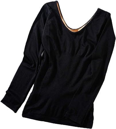 Kentop Tops de Térmicos Grueso Camiseta Interior Térmica para Mujer Ropa de Invierno,Una Talla(40-70 kg): Amazon.es: Hogar