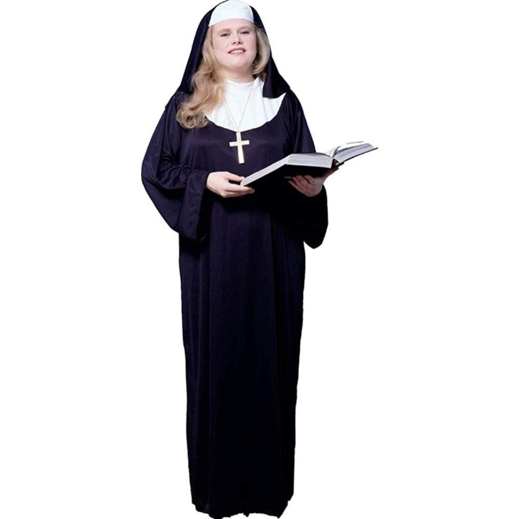 Nun Outfit (Plus Size) Fancy Dress: Amazon.co.uk: Clothing