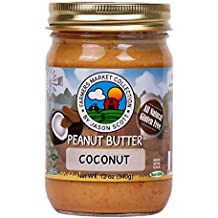 Jason Scott's All Natural Dry-Roasted Peanut Butter with Coconut - Vegan Gluten Free Non-GMO Zero Added Sugar Family Owned Brand