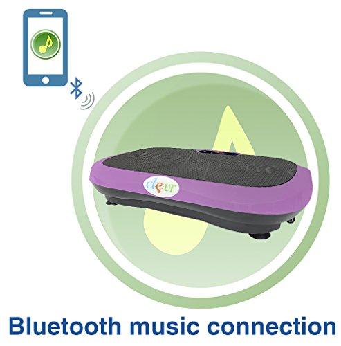 Clevr Ultraslim Pink Crazy Fit Full Body Vibration Platform Massage Machine MP3 Player