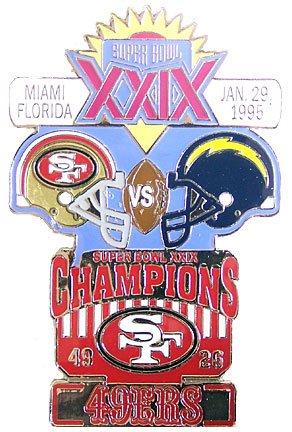 Super Bowl Bowl XXIX B00608G21W Oversized記念ピン Super B00608G21W, セルフメディコム株式会社:cd060e37 --- hanjindnb.su