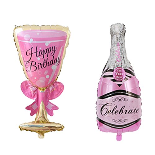 Pink Balloon Pack Giant Champagne Balloon Kit Large Champagne Balloon for Bachelorette Bridal Shower Birthday Wedding Party Decorations -