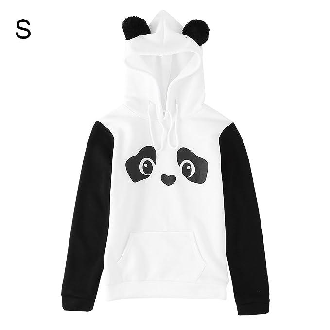 49ca94c8e5c08e FTVOGUE Felpa con Cappuccio da Donna Femminile Disegno Panda Stampare  Pullover: Amazon.it: Abbigliamento