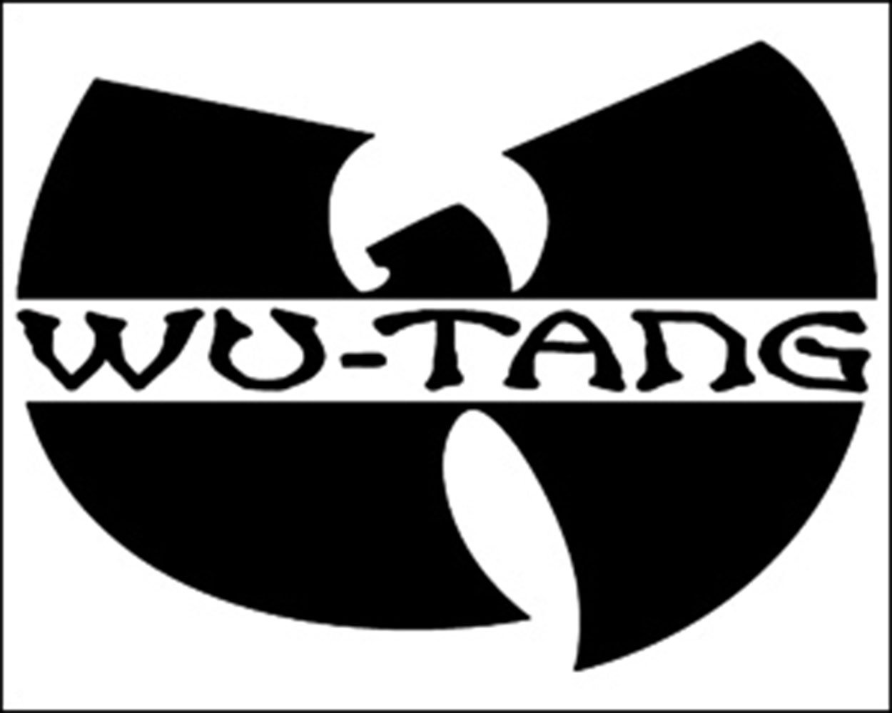WU-TANG Clan Logo, Official Original Licensed Artwork, 4.7' x 0.7' - Sticker Aufkleber DECAL 4.7 x 0.7 - Sticker Aufkleber DECAL Officially Licensed & Trademarked Products S-5715