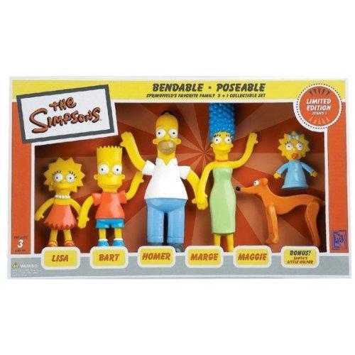 Division Figure Set (NJ Croce Simpsons Family Bendable Action Figure Box Set by NJ Croce)