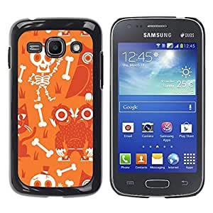 TopCaseStore / la caja del caucho duro de la cubierta de protección de la piel - Scull Skeleton Happy Halloween - Samsung Galaxy Ace 3 GT-S7270 GT-S7275 GT-S7272