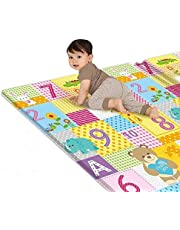 """Baby Play Mat LDPE Foam Floor Gym Children Mats,Portable Baby Play Mat,Tummy Time Folding Reversible Baby Mats for Playing or Crawling,Outdoor Playroom 70"""" x 39"""" x 0.4"""""""