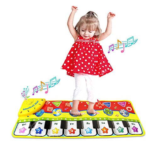 Coolplay Piano Keyboard Play Mat, Learn Singing Gym Carpet Touch Play Mats for Kids Baby,28x 11 Inches -