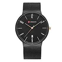 CURREN Men Watch Stainless Steel Band Business Male Wristwatch 8257