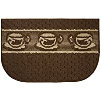 Structures Textured Loop 18 x 28 in. Kitchen Rug, Coffee Goodness