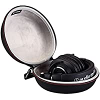 LTGEM Headphone Case for Sony, Bose,Audio-technica, Panasonic, Xo Vision, Behringer, Maxell, Photive, Philips, Beats and More-Black