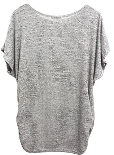 Emma & Giovanni -T-shirt / Top / Camiseta - Mujer Gris