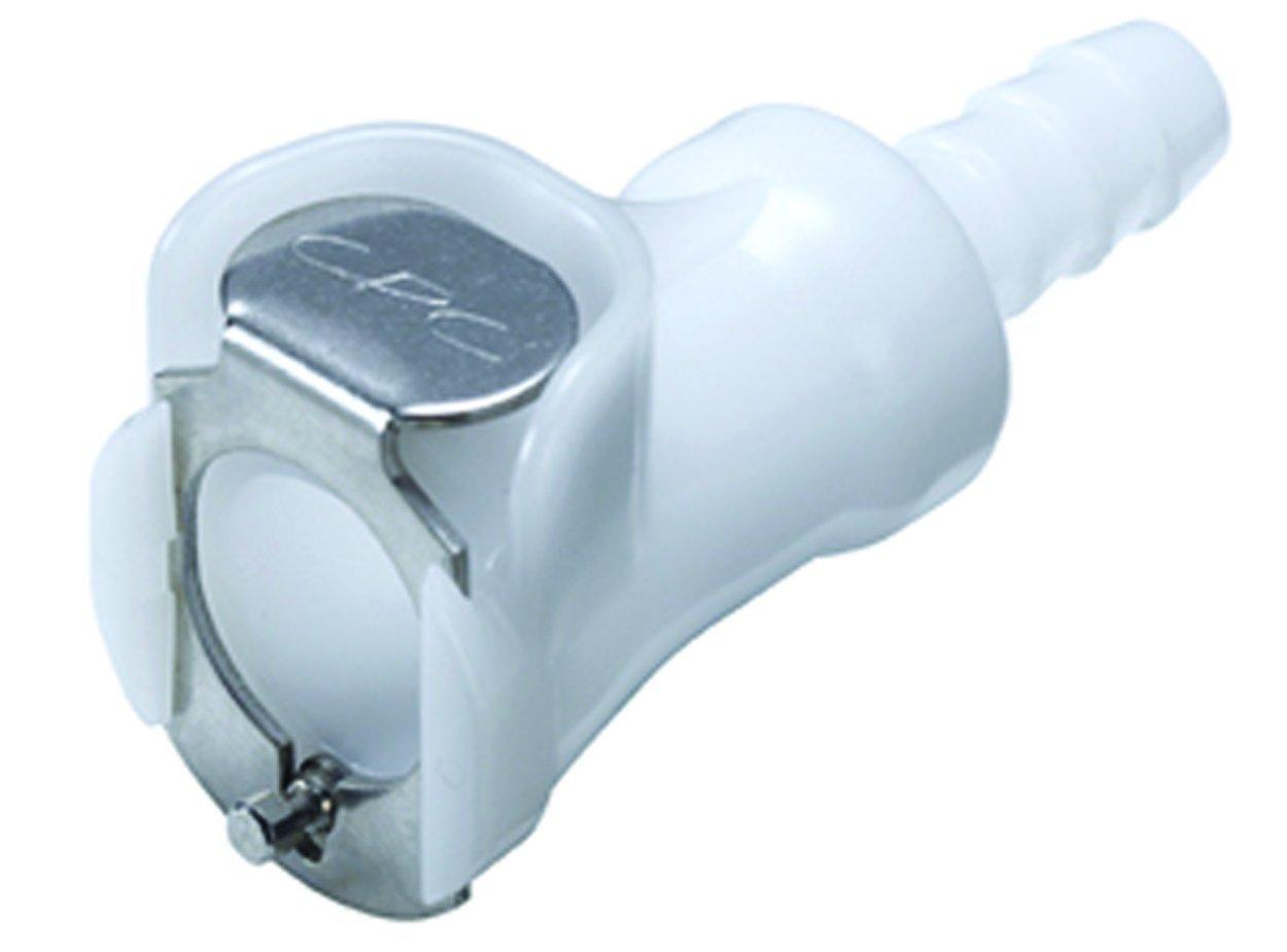 Colder PLC17004 Acetal Tube Fitting Straight Thru In-Line 1//4 Flow Coupler x 1//4 Barb Coupler