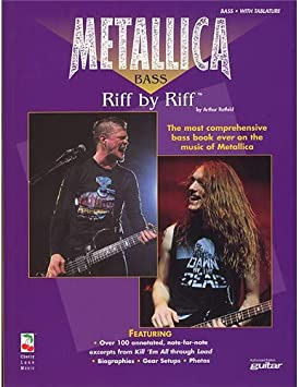 Metallica Bass: Riff By Riff. Partituras para Guitarra Bajo ...