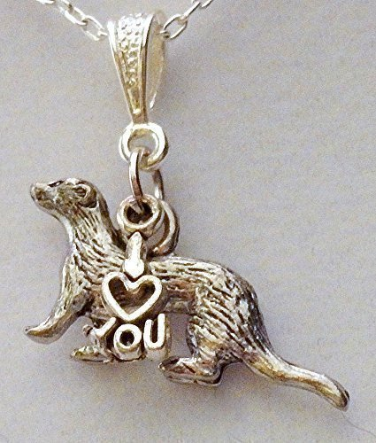 Ferret Jewelry - I Love You Ferret Necklace