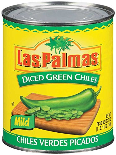 Las Palmas Green Diced Chiles - 27 oz. can, 12 cans per case ()