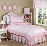 Sweet Jojo Designs 4-Piece Pink French Toile Children's Bedding Girls Twin Set