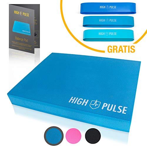 High Pulse® XXL Balance Pad inkl. 3X Fitnessbänder + Poster – Balancekissen für EIN verbessertes Gleichgewicht, Koordination und Stabilität