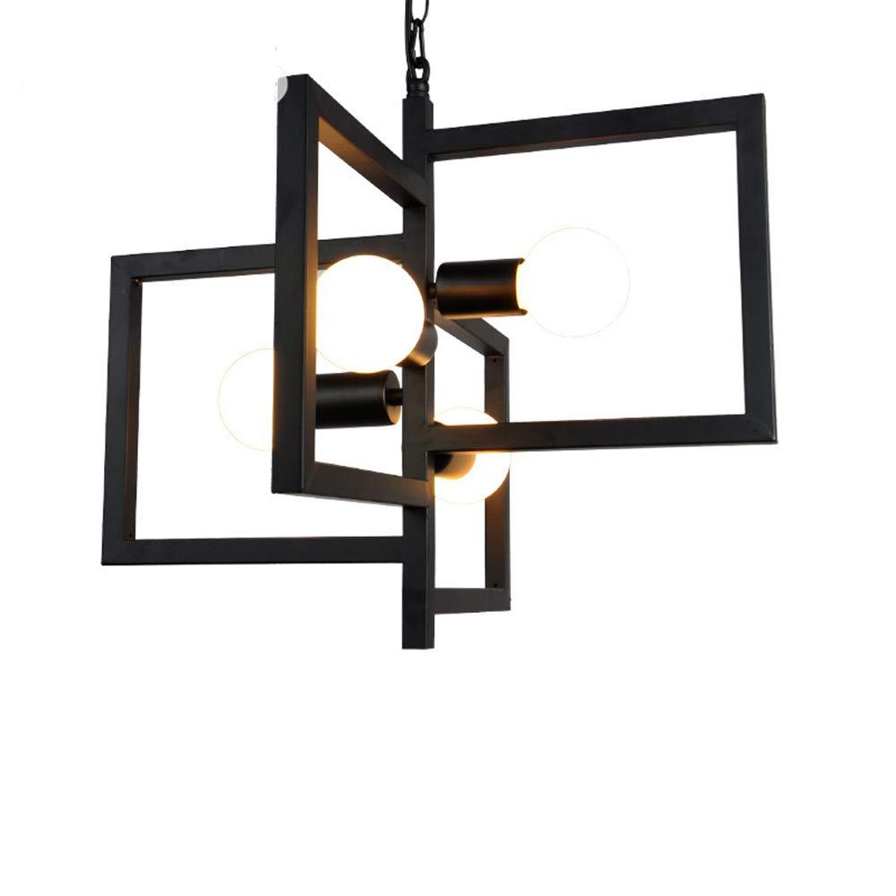 Unbekannt Kreative Persönlichkeit Geometrische Kronleuchter Schmiedeeisen Industriewind Retro Vier Lampenhalter Schreibtisch Wohnzimmer Restaurant Bar Cafe Dekoration Lampen