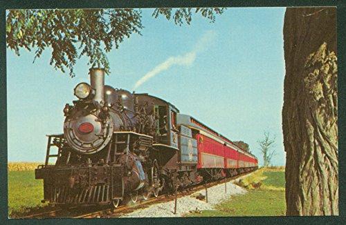 (STRASBURG RAILROAD Red Passenger Coach Steam Engine Train PA Postcard)