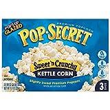 microwave caramel corn - Pop Secret Popcorn, Sweet 'n Crunchy Kettle Corn, 3-Count Boxes (Pack of 12)