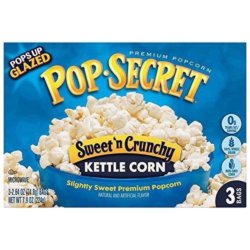 Pop Secret Popcorn, Sweet 'n Crunchy Kettle Corn, 3-Count Boxes (Pack of 12)