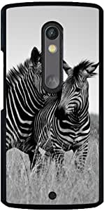 Funda para Motorola Moto X Play - Cebra Blanco Y Negro De África by WonderfulDreamPicture