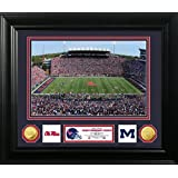 """NCAA Mississippi Old Miss Rebels Stadium Special Edition Coin Photo Mint, 32"""" x 27"""" x 4"""", Gold"""