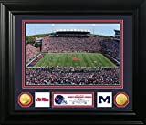 NCAA Mississippi Old Miss Rebels Stadium Special Edition Coin Photo Mint, 32'' x 27'' x 4'', Gold