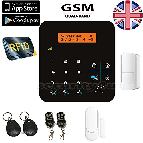 Security4U TL avanzado LCD Teclado táctil inalámbrico GSM RFID ...