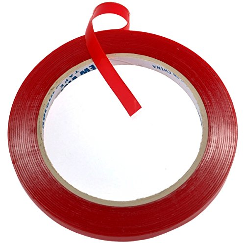 - Foxnovo 5m*8mm Super Sticky Heat Resistant Car Auto Double-sided Clear Acrylic Adhesive Foam Tape