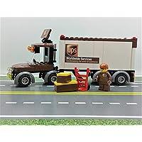 LEGO UPS Trailer Great Vehicles & UPS BOX & Minifigure....