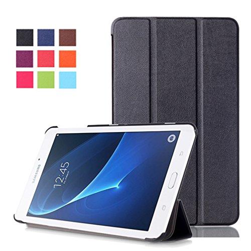 Samsung Galaxy Tab A 7.0 SM-T280 Case,Galaxy T285 Folio Cover,Samsung Galaxy Tab A 7-Inch Tablet Cover,Slim Folding Case for Samsung Galaxy Tab A 7.0 Tablet-Black