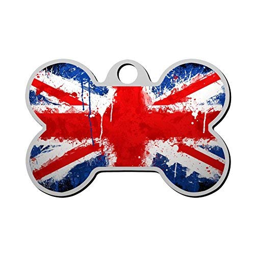 England Pet ID Tag Personalized,Pet Id Tag for Dogs for Cats,Custom Bone Shape Dog Tag