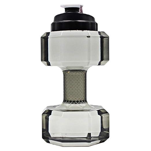 Botella de agua con forma de mancuerna - 75 oz / 2,2 l - Deportes ...