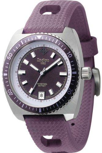 Zodiac ZO2261 - Reloj analógico de cuarzo para mujer, correa de plástico color morado