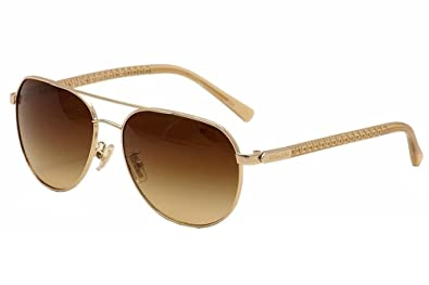 a8d62a9bf Image Unavailable. Image not available for. Colour: COACH HC 7053 Sunglasses  922713 Gold/ Crystal Brown ...