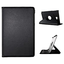 BeCool® - 360 Degree Rotating Tablet Case Flip Folio Stand to protect your Samsung Galaxy Tab A 10.1 2016 S-Pen, with a rotation system and stand function in colour Elegant Wallet Black