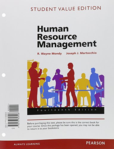 Human Resource Management, Student Value Edition (14th Edition)