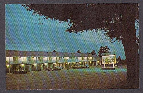 Colonial Motor Lodge Bar Harbor Rd Ellsworth ME postcard (Lodge Bar)